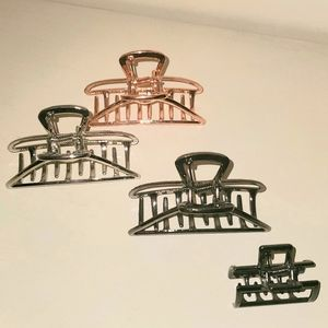 4 New Metal Claw Hair Clips Black Silver Copper